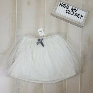 Crewcuts Girls Tulle Skirt Gray Sz 6/7 Lined NWT